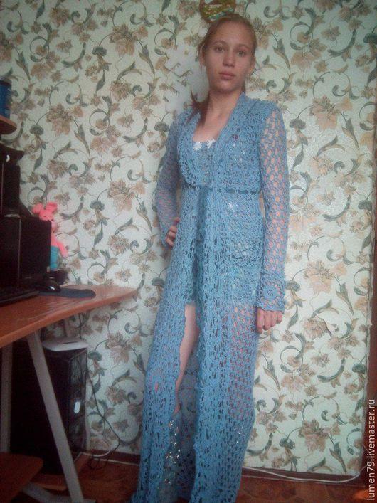 Кофты и свитера ручной работы. Ярмарка Мастеров - ручная работа. Купить Вязаная одежда в наличии и под заказ. Handmade. Голубой