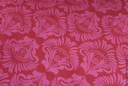 """Шитье ручной работы. Ярмарка Мастеров - ручная работа. Купить Хлопковая декоративная ткань """"Барокко""""Отрез250Х150смГермания0см. Handmade. Ярко-красный"""