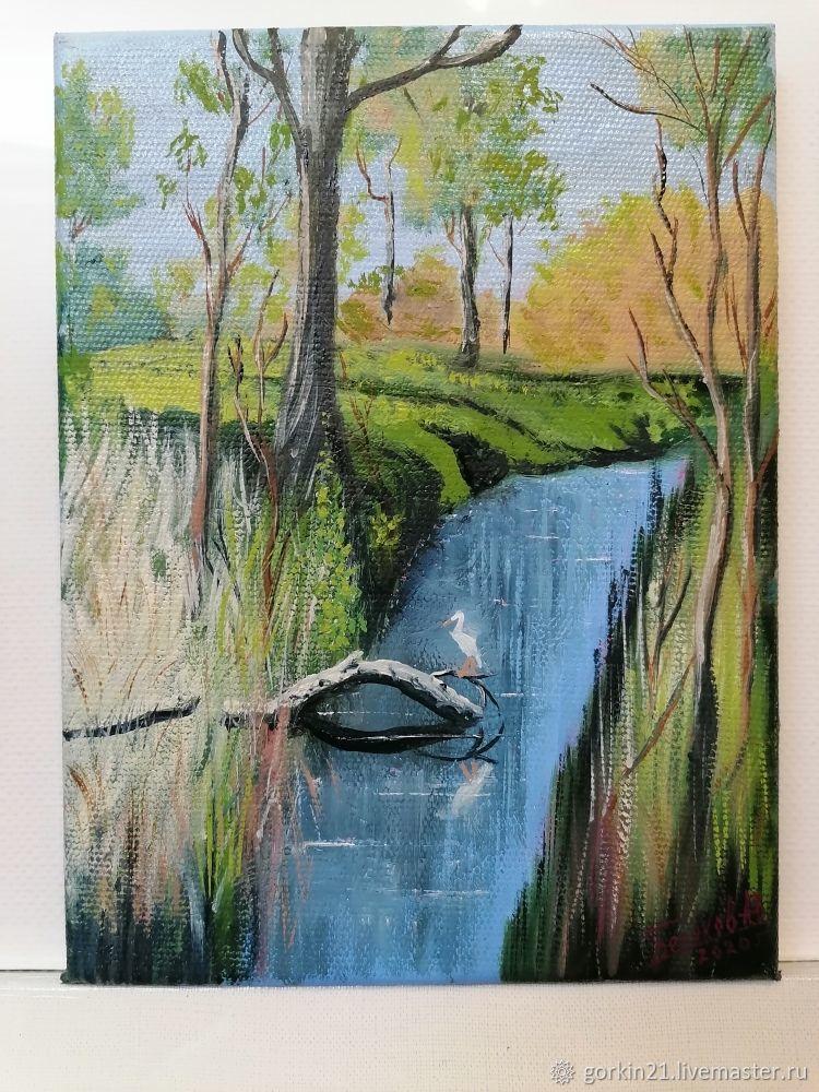 На болоте, Картины, Железнодорожный,  Фото №1