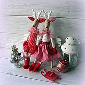 Куклы и игрушки ручной работы. Ярмарка Мастеров - ручная работа Олени влюбленные новогодние. Handmade.