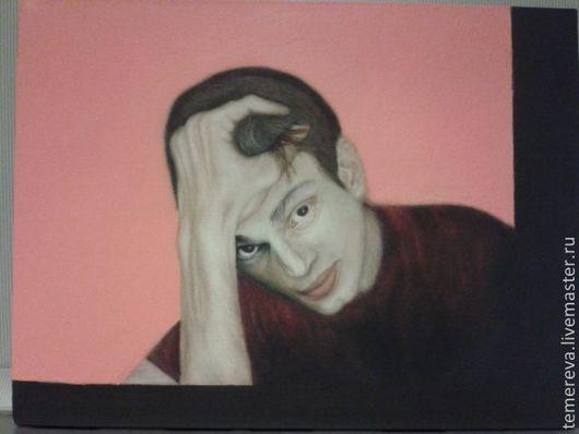 Люди, ручной работы. Ярмарка Мастеров - ручная работа. Купить портрет молодого человека. Handmade. Портрет мужчина, синий   красиво