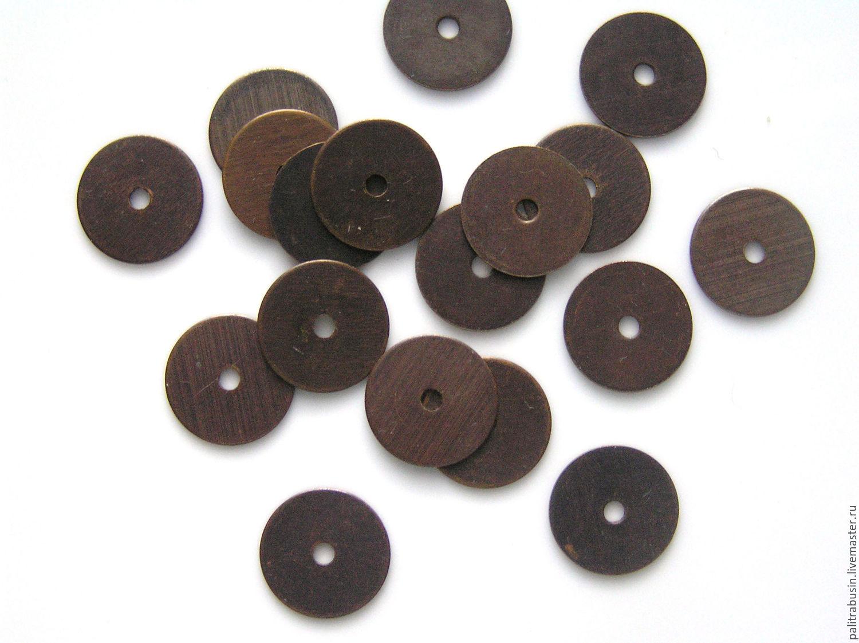 All for Jewelry Making handmade. Livemaster - handmade. Buy Bead caps Vintaj washer 10 mm.Bronze