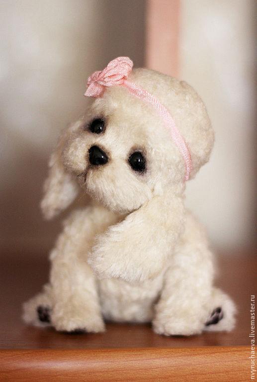 Мишки Тедди ручной работы. Ярмарка Мастеров - ручная работа. Купить Никуся. Handmade. Щенок, молочный цвет