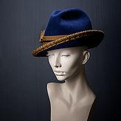 Аксессуары ручной работы. Ярмарка Мастеров - ручная работа Фетровая шляпа трилби Hunter. Handmade.