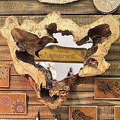 Для дома и интерьера ручной работы. Ярмарка Мастеров - ручная работа Зеркало из коряги 80х65 см. Handmade.