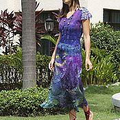 Одежда ручной работы. Ярмарка Мастеров - ручная работа Нуно валяное платье Пурпур. Handmade.