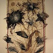 """Картины и панно ручной работы. Ярмарка Мастеров - ручная работа Панно """"Цветы"""". Handmade."""