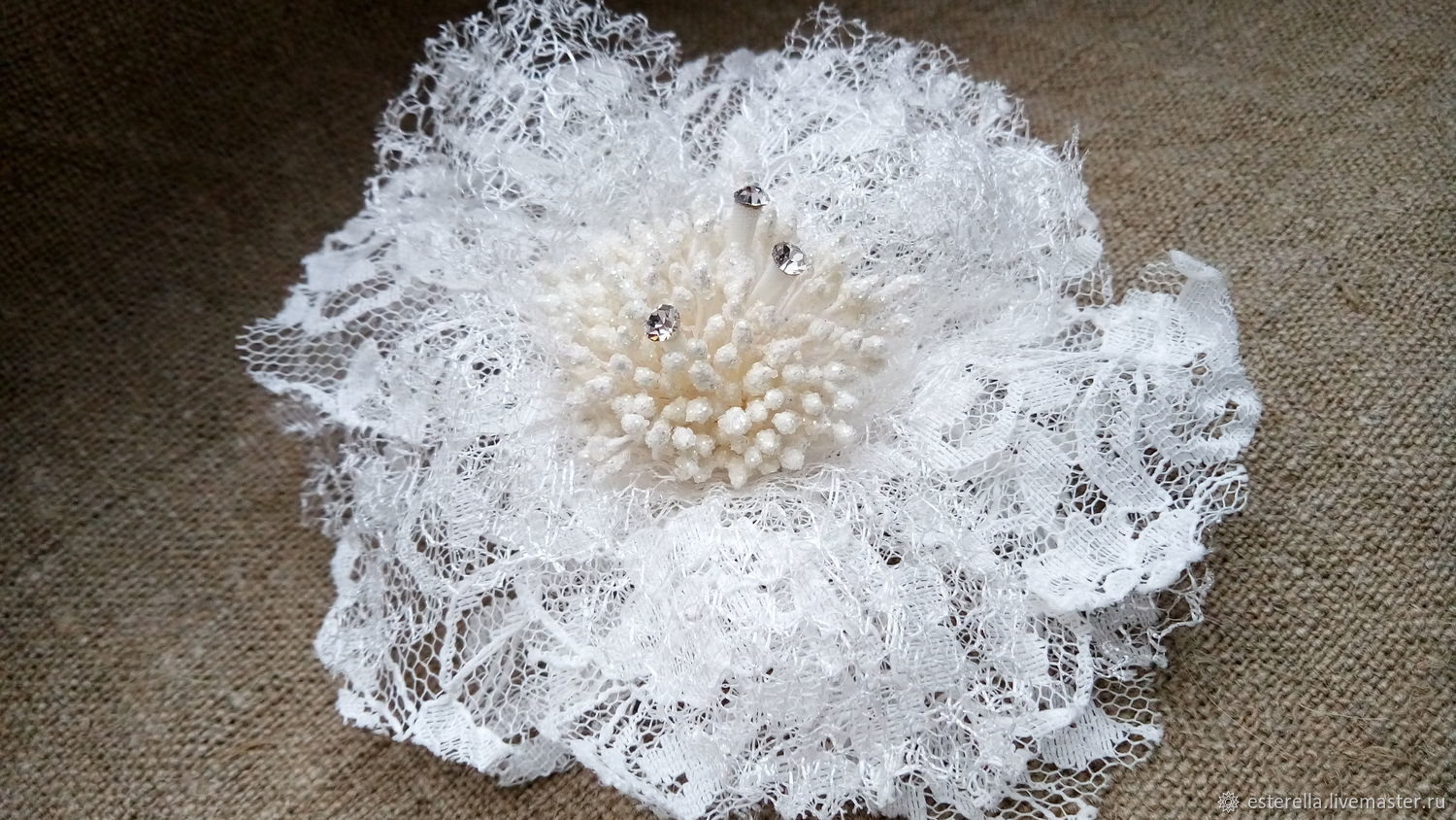Brooch of delicate lace ' Air flower', Brooches, Moscow,  Фото №1