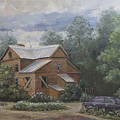 Картины и панно handmade. Livemaster - original item Oil painting. Left. Landscape.. Handmade.