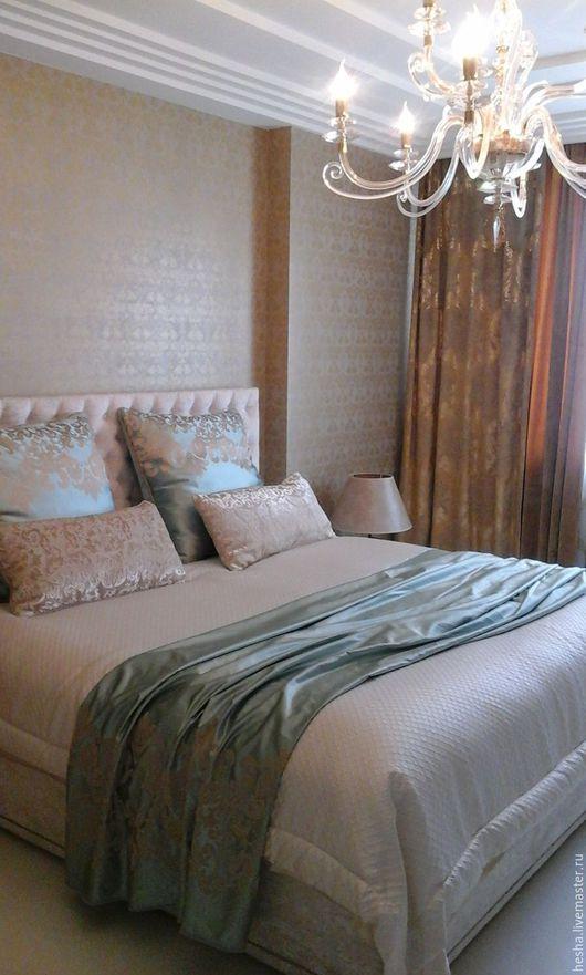 Текстиль, ковры ручной работы. Ярмарка Мастеров - ручная работа. Купить комплект для спальни. Handmade. Комбинированный, покрывало, Подушки