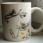 Посуда ручной работы. Ярмарка Мастеров - ручная работа Кружка Коты-4. Handmade.