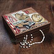 Для дома и интерьера ручной работы. Ярмарка Мастеров - ручная работа Шкатулка САФАРИ, двойная купюрница, шкатулка для денег. Handmade.