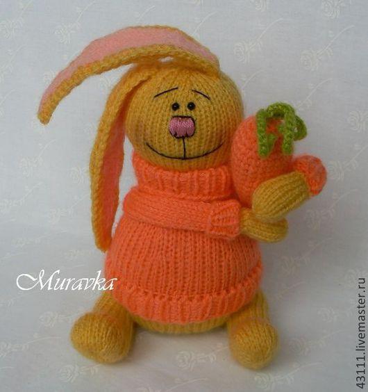 Игрушки животные, ручной работы. Ярмарка Мастеров - ручная работа. Купить Солнечный Кролик с морковкой. Handmade. Заяц, улыбка