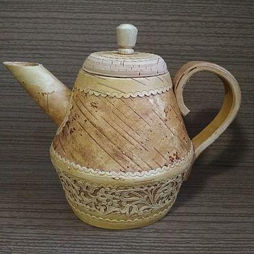 """Посуда ручной работы. Ярмарка Мастеров - ручная работа Чайник """"Семейное чаепитие"""". Handmade."""