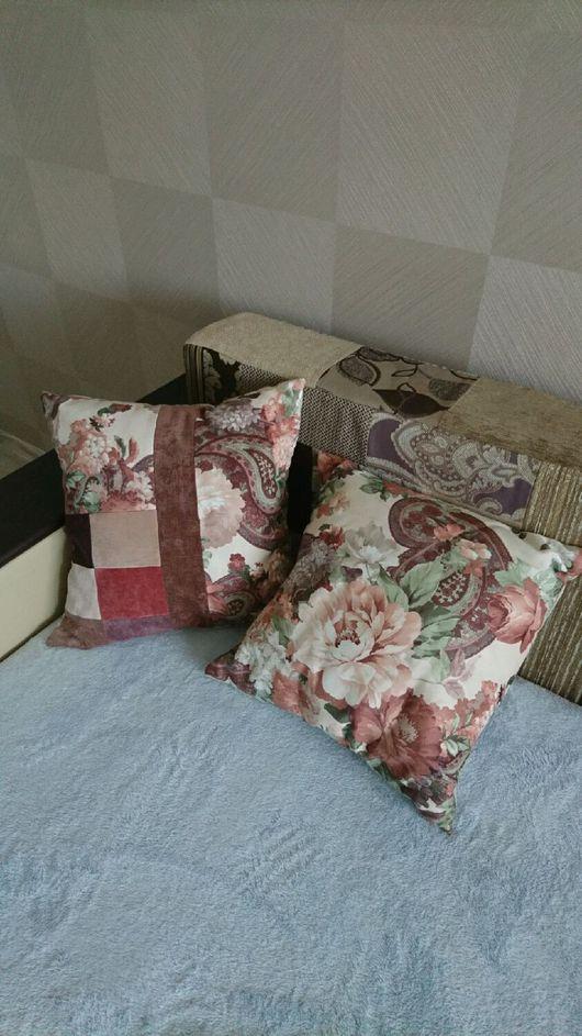 Текстиль, ковры ручной работы. Ярмарка Мастеров - ручная работа. Купить Подушки интерьерные. Handmade. Комбинированный, коричневый