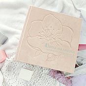 Канцелярские товары handmade. Livemaster - original item Photo album for baby girl, newborn girl. Handmade.