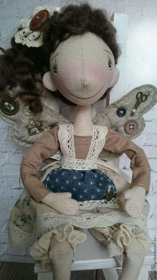 Человечки ручной работы. Ярмарка Мастеров - ручная работа. Купить Интерьерная текстильная кукла Фейка - Швейка. Handmade. Комбинированный