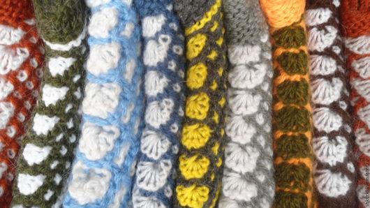 Носки, Чулки ручной работы. Ярмарка Мастеров - ручная работа. Купить Следки (чуни) из полушерстяной пряжи. Handmade. Комбинированный