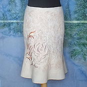 Одежда ручной работы. Ярмарка Мастеров - ручная работа Валяная юбка..Нежность. Handmade.