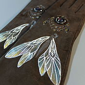 "Аксессуары handmade. Livemaster - original item Перчатки замшевые длинные на шелке ""Королева фей"". Handmade."