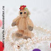 """Куклы и игрушки ручной работы. Ярмарка Мастеров - ручная работа Медведь """"Кнопочка""""(5 см). Handmade."""