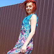 Одежда ручной работы. Ярмарка Мастеров - ручная работа летнее платье с драпировкой. Handmade.