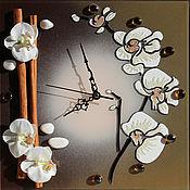 """Для дома и интерьера ручной работы. Ярмарка Мастеров - ручная работа Часы """"Нежность орхидеи 2"""". Handmade."""