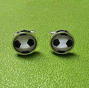 Украшения handmade. Livemaster - original item cufflinks silver plated soccer ball (large). Handmade.