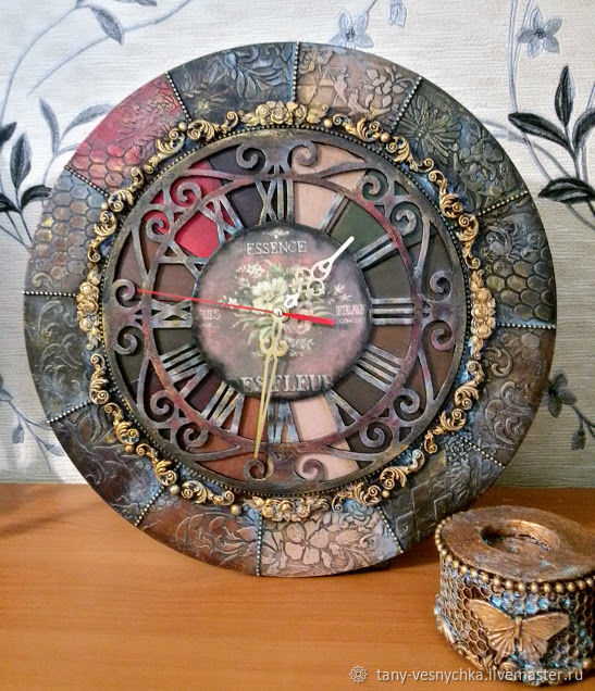 Часы Цветы Парижа, большие, Часы классические, Томск,  Фото №1