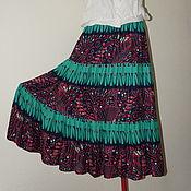 Одежда ручной работы. Ярмарка Мастеров - ручная работа Юбка летняя из вискозы. Handmade.