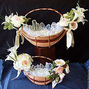 """Свадебный салон ручной работы. Ярмарка Мастеров - ручная работа Свадебные корзинки  """" Ах, эта свадьба!"""". Handmade."""