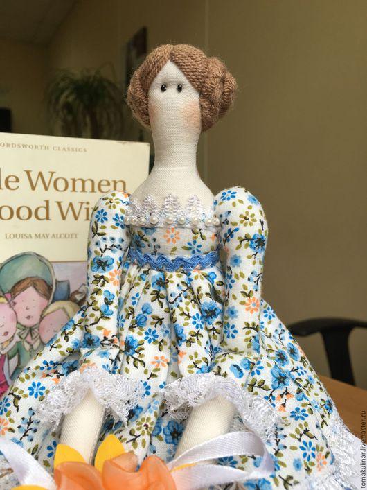 Куклы Тильды ручной работы. Ярмарка Мастеров - ручная работа. Купить Интерьерная кукла Майя. Handmade. Голубой, кукла текстильная
