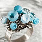 Rings handmade. Livemaster - original item ring the flame of the blue sky. Handmade.