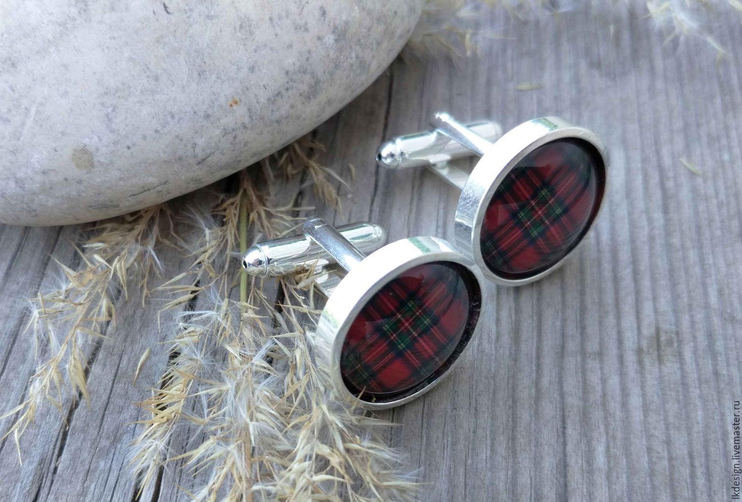 cufflinks silver plated cage red (large), Cuff Links, Moscow,  Фото №1
