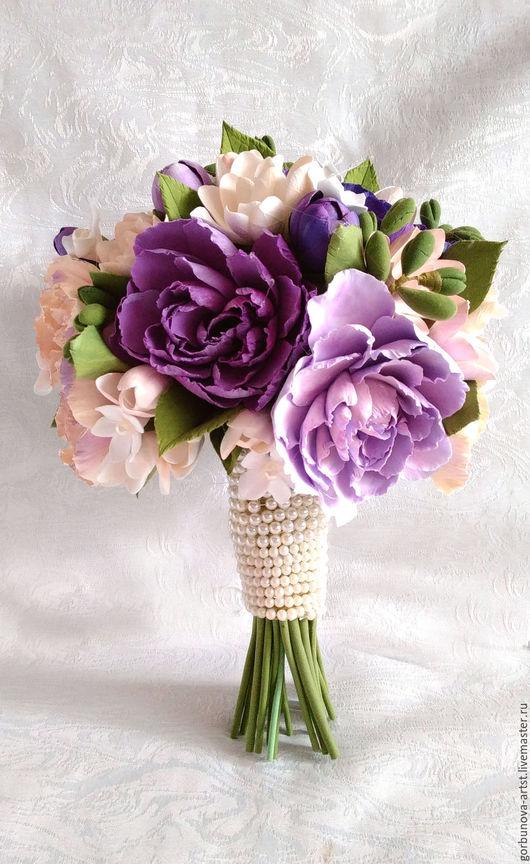 Свадебный букет, букет на свадьбу, букет невесты, букет для невесты, букет невесты из глины, букет из полимерной глины, букет 2016, букет из глины,букет невесты от цветочного кутюрье Анны Горбуновой