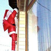 Куклы и игрушки handmade. Livemaster - original item Santa Claus on ladder (on wall). Handmade.
