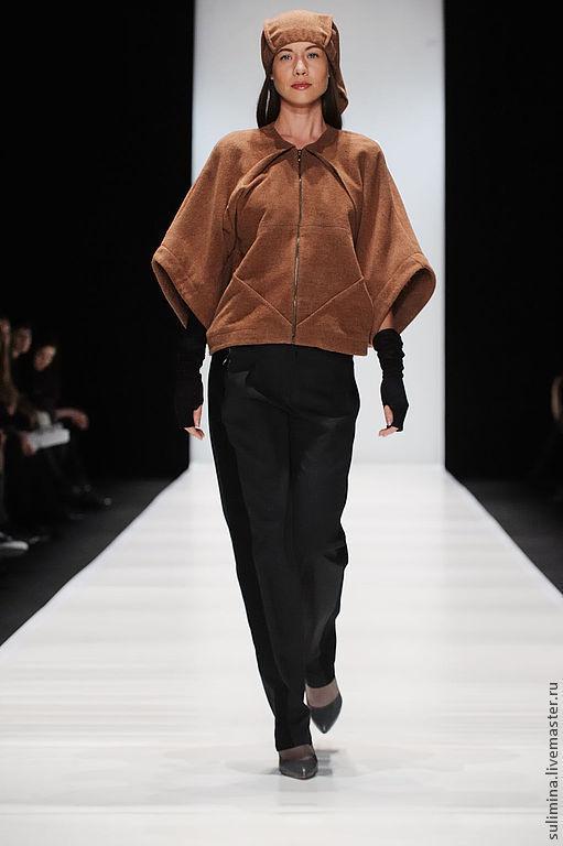 """Верхняя одежда ручной работы. Ярмарка Мастеров - ручная работа. Купить Укороченное пальто с недели моды """"Mersedes fashion Week"""". Handmade."""