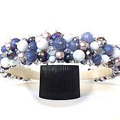 Украшения handmade. Livemaster - original item Bezel with stones (aquamarine). Handmade.