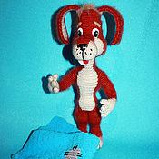 Куклы и игрушки handmade. Livemaster - original item Red dog. Dog knitted. Handmade.