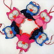 Подарки к праздникам ручной работы. Ярмарка Мастеров - ручная работа Совята из фетра. Handmade.