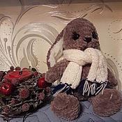 Мягкие игрушки ручной работы. Ярмарка Мастеров - ручная работа Плюшевый зайчик. Handmade.