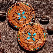 Украшения ручной работы. Ярмарка Мастеров - ручная работа 3 пары Этно- Серьги из полимерной глины. Handmade.