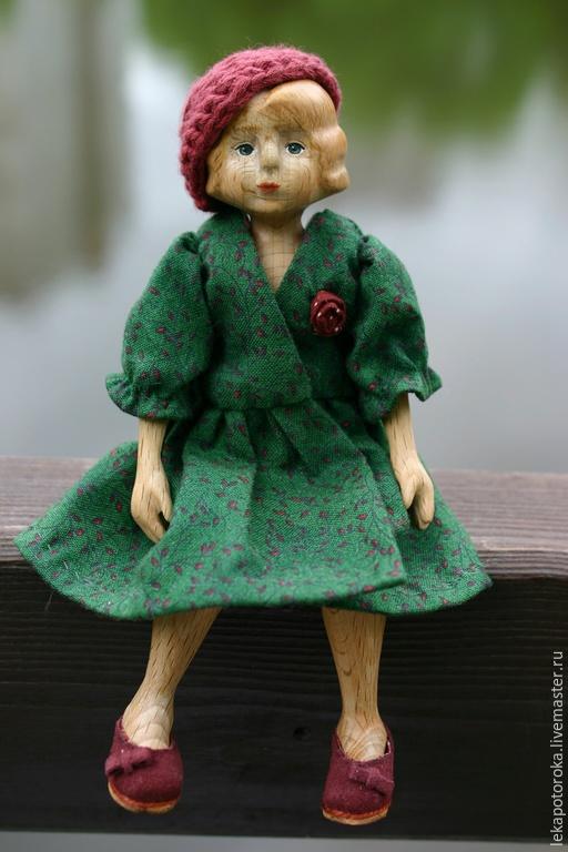 Коллекционные куклы ручной работы. Ярмарка Мастеров - ручная работа. Купить Деревянная кукла Мари шарнирная. Handmade. Болотный