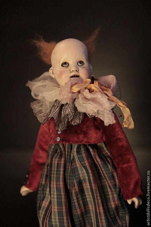 Коллекционные куклы ручной работы. Ярмарка Мастеров - ручная работа. Купить клоун в клетчатых штанах.OLD CIRCUS .РЕЗЕРВ. Handmade.