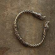 Украшения handmade. Livemaster - original item Bronze bracelet - Dragon. Handmade.
