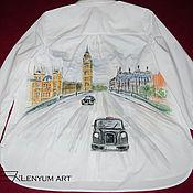 """Одежда ручной работы. Ярмарка Мастеров - ручная работа Рубашка """"Путешествие в Лондон"""". Handmade."""