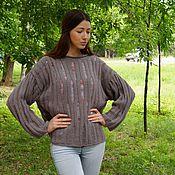 Одежда ручной работы. Ярмарка Мастеров - ручная работа Пуловер оверсайз. Handmade.