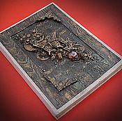 Подарки к праздникам ручной работы. Ярмарка Мастеров - ручная работа Блокнот стимпанк  блокнот бабочки блокнот для женщины  черный. Handmade.