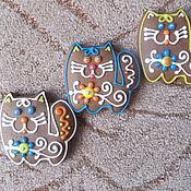 """Подарки ручной работы. Ярмарка Мастеров - ручная работа Пряники """"Коты"""". Handmade."""