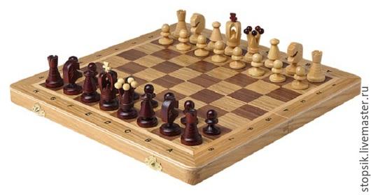 Настольные игры ручной работы. Ярмарка Мастеров - ручная работа. Купить Шахматы Королевские (средние, дуб 37772). Handmade. Разноцветный